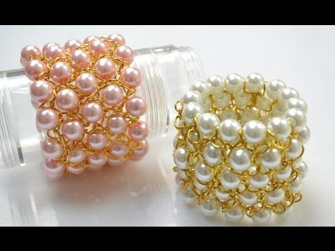 Video Tutorial on How to Make a Chain Bracelet with Pearl Beads for Bridesmaids - Pandahall.com