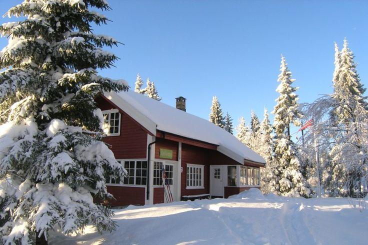 Fjellvang, winter 2015. Met de kinderen naar deze hut op de Nordmarka geskied. Een droomplek! 4 km naar station op ski's en binnen een half uur in centrum Oslo.