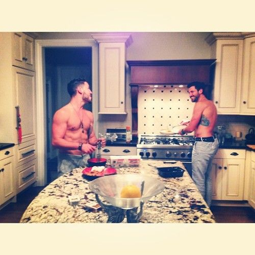 Late night cooking with the Chmerkovskiy brothers - Hell Yeah!!!!!!