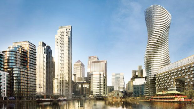 Baltimore Tower in Canary Wharf, London - SOM