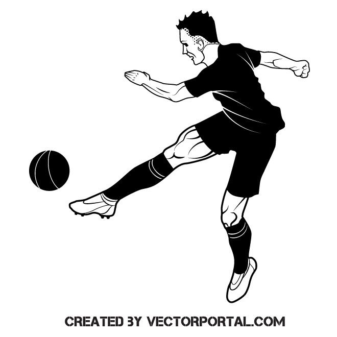 Soccer Player Vector Image Vector Free Free Vector Images Vector Images