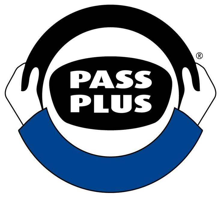 pass plus from coadysdrivingschool.com very simple. good use of shape and colour. dark blue is an appropriate colour; knowledge, integrity and seriousness.