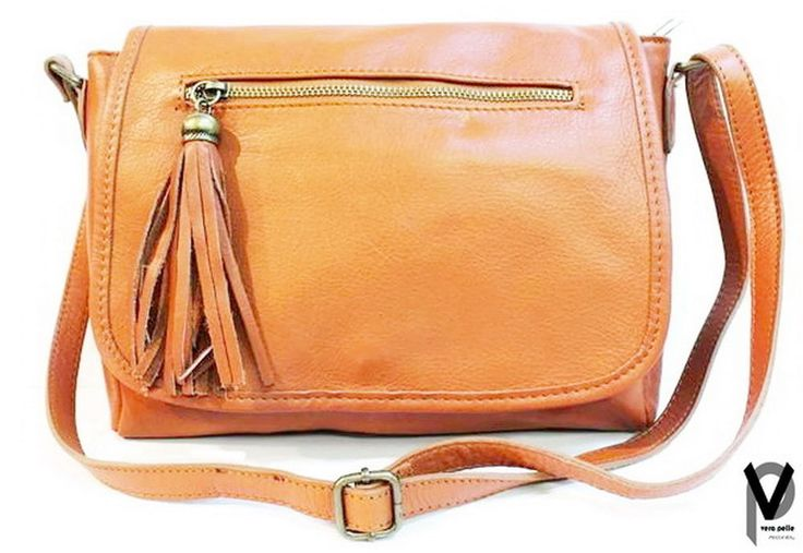 Vera Pelle Schultertasche 29cm Leder Handtasche Fransen Blau Braun Rot Taupe
