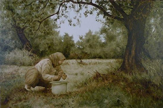 Gathering Olives by Laura den Hertog Oil ~ 24 x 36