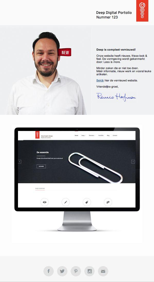 Newsletter 123 Deep Graphic Design