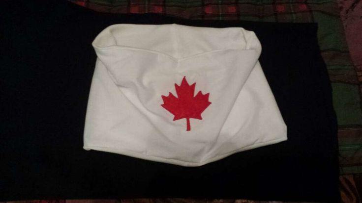 Canada Maple Leaf scarf red white by Scarfgoroundboutique on Etsy