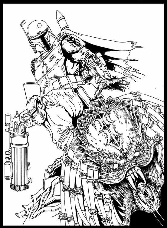 Boba Fett VS Predator Predator alien, Predator, Alien vs
