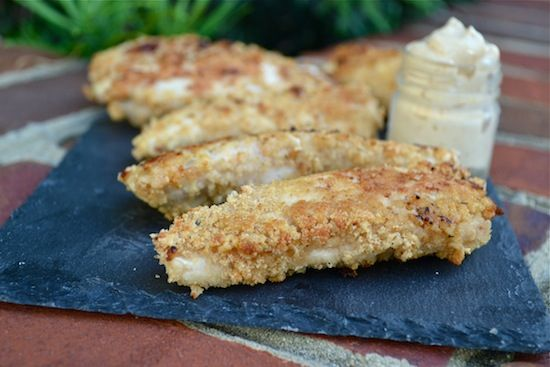 These Gluten Free Rice Krispie Chicken Tenders are an easy weeknight dinner and the homemade Chick-fil-A dipping sauce with Greek yogurt, mustard, BBQ sauce, honey is so yummy.