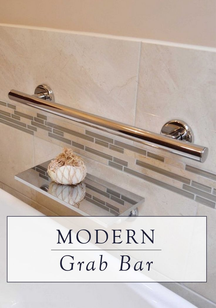 This stainless steel grab bar offers both style and safety. It features a sleek, modern design that looks great in a variety of bathroom styles.