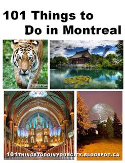 101 Things to do in Montreal, right, my summer is planned out :D