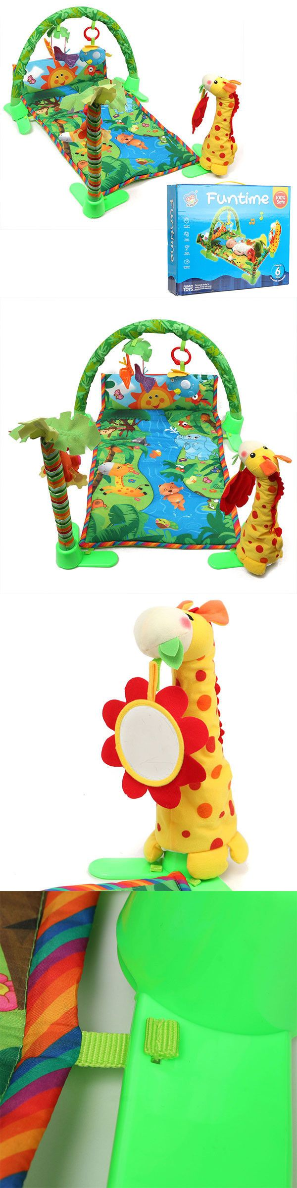 Baby Gyms and Play Mats 19069: Baby Rainforest Musical Infant Activity Gym Floor Crawl Play Mat Toys -> BUY IT NOW ONLY: $32.99 on eBay!
