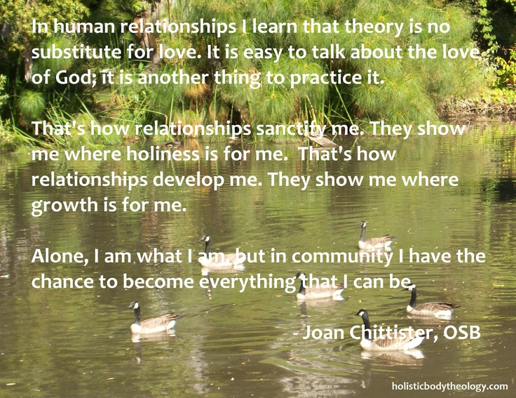 Joan Chittister on being in community