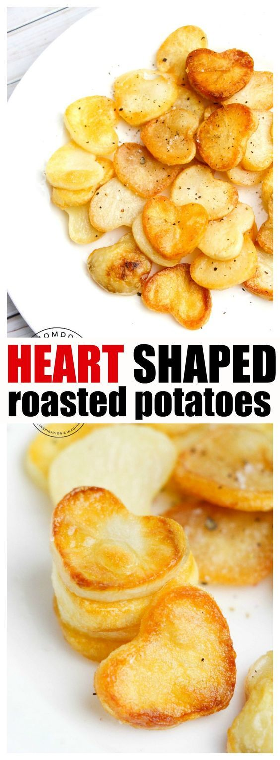 Heart Shaped Roasted Potatoes, delicious roasted potato recipe with a little twist of love