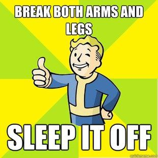 Fallout 3 advice is the best advice.*