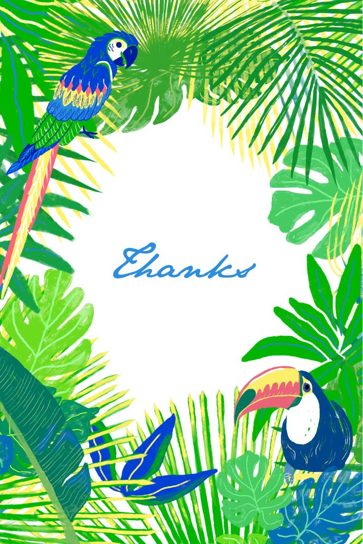 The rich, vibrant colours and dense foliage on our Jungle baby thank you cards make them a fun and unique way to thank your friends and family for their gifts and best wishes following the birth of your little one. #babythankyoucards #tropicalbabythankyoucards #personalisedbabystationery