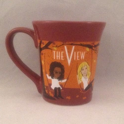 The View TV Show Fall 2010 Promo Coffee Cup Mug Hosts Swings Leaves Made In USA