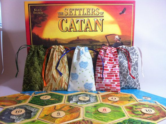 Settlers of Catan  Resources Bags of Catan  5 by HelloToTheMadre