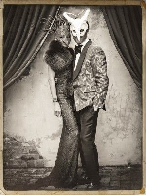 photo booth idea -- not necessarily masks, but the old tintype aesthetcis is kinda cool