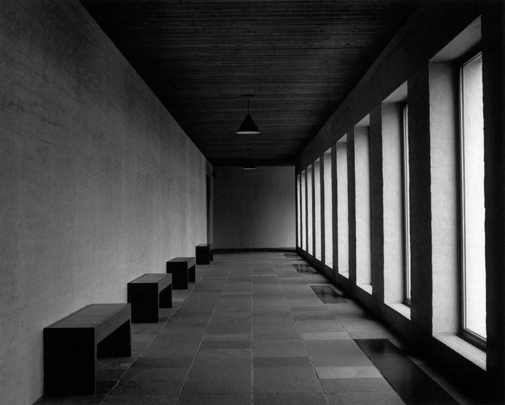 Beautiful rhythm inside this corridor of the Sint Benedict abbey in Waasmunster, Belgium by monk architect dom Hans van der Laan. Nobilis simplicitas. You really don't need all the agressive spectacle contemporary architecture displays today to make a nice space.