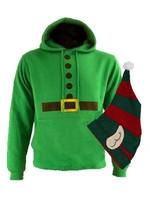 Elf Christmas Costume Mens Hoodie | eBay