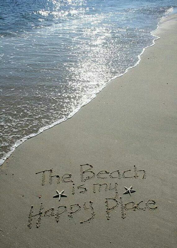 "Smile of the day :) ""The beach is my happy place."" #ocean #nature"