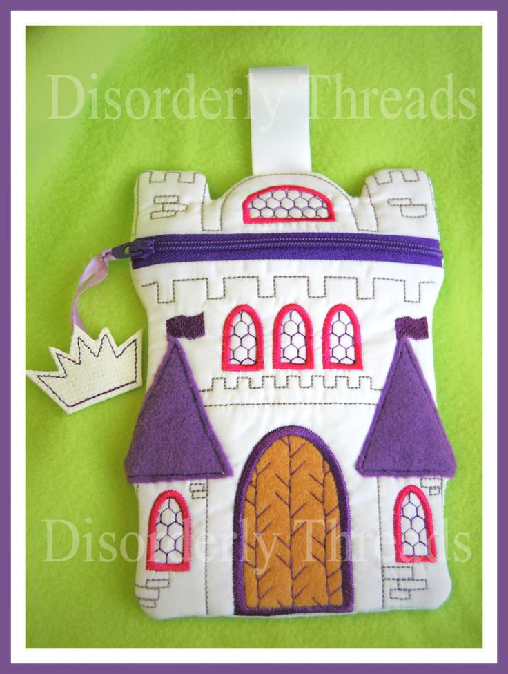 Castle Zippered Bag Every Princess needs one. by DisorderlyThreads, $8.00