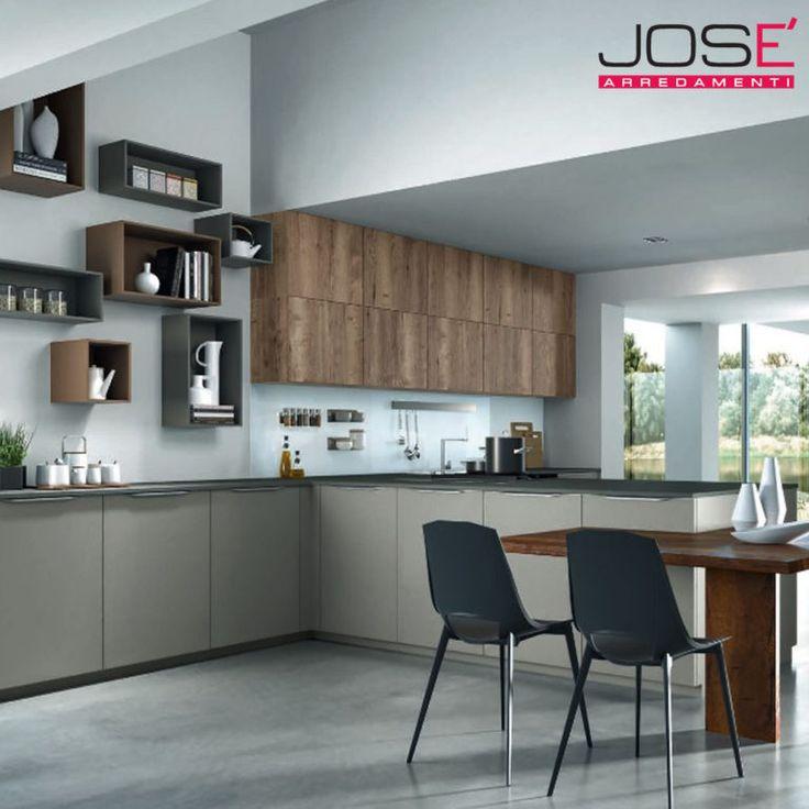 Curata in ogni particolare, pensata per essere una cucina al centro della vita in casa, offrendo una ampia scelta di accessori, scelta cromatica e finitura delle ante.