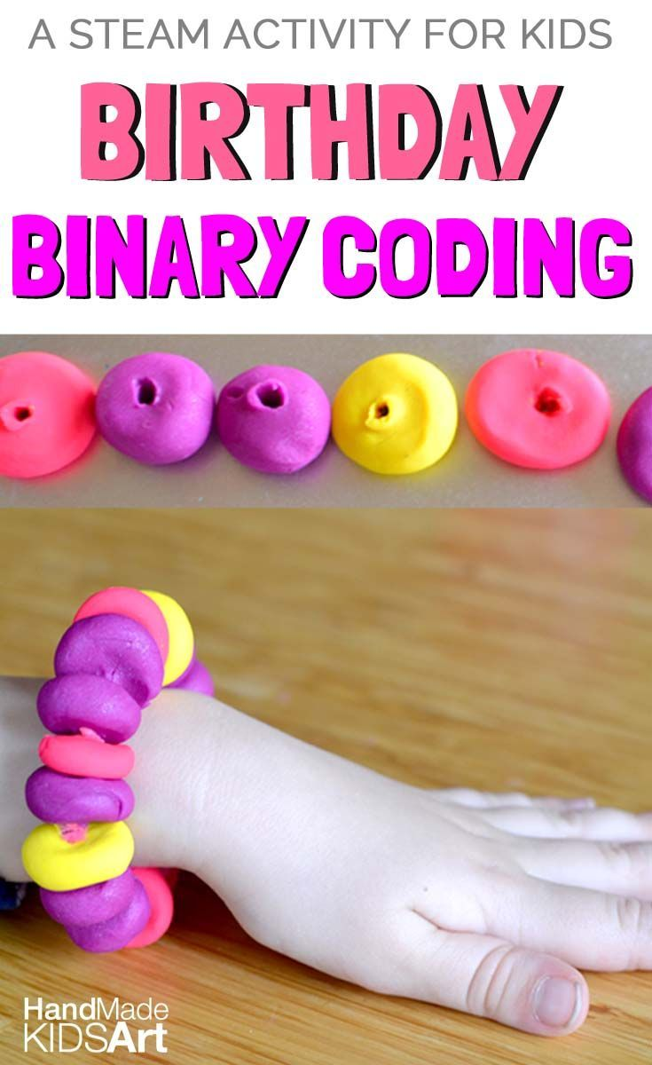 Binary coding for kids made easy! Code your birthday for a unique handmade accessory. A STEM or as we like to say STEAM activity for kids.  Get the dream tech or developer job you have always wanted and travel the world for little to no cost http://recruitingforgood.com/