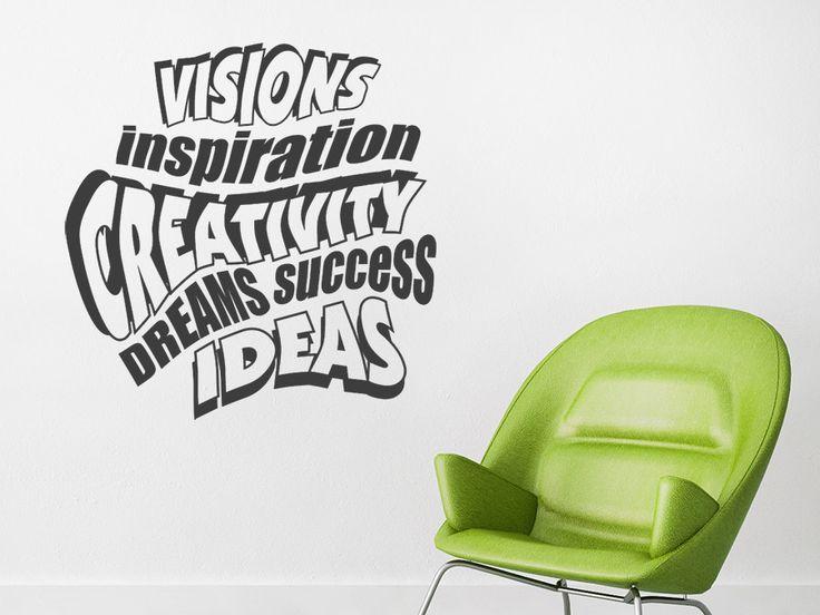 wandtattoo creativity f r kreativ designte w nde kreativ. Black Bedroom Furniture Sets. Home Design Ideas