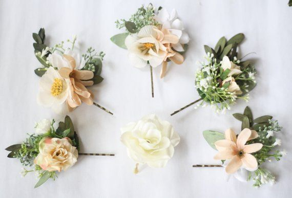 Eucalyptus Hair Pin Set Bridal Hair Piece Baby Breath Flower Pin