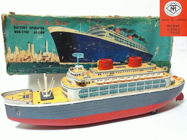 Best TIN TOY BOATS Images On Pinterest Old Fashioned Toys - Toy cruise ship