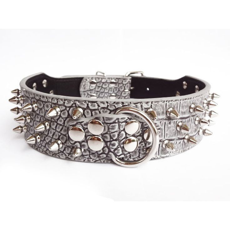 Small Protective Dog Collar With Large Spikes