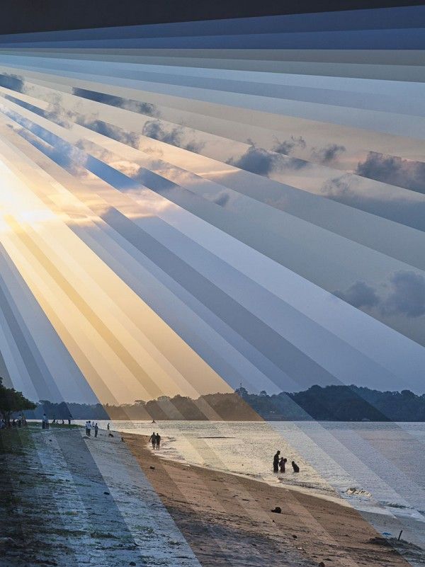 Time is a Dimension, Layered Sequences of Landscapes by Qi Wei Fong