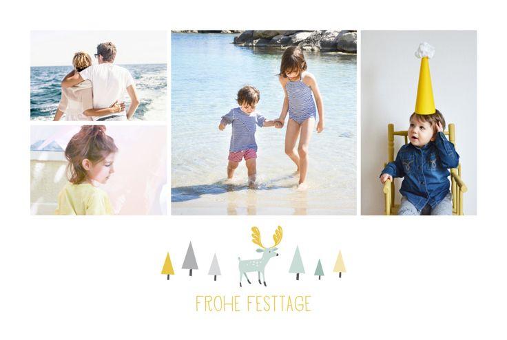 Die Weihnachtskarte Ren 4 Fotos ist eine originelle und moderne Kreation des Designer Duos Mr und Mrs Clynk. Auf der Titelseite werden Ihre Lieblingsbilder in drei ...