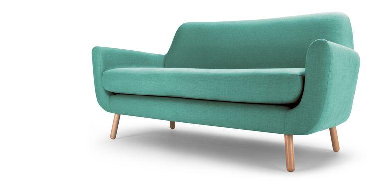 Jonah 2 Seater Sofa, Med Blue