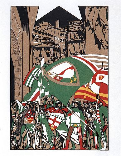 Nobile Contrada dell'Oca - Siena - Duilio Cambellotti 1932 #TuscanyAgriturismoGiratola
