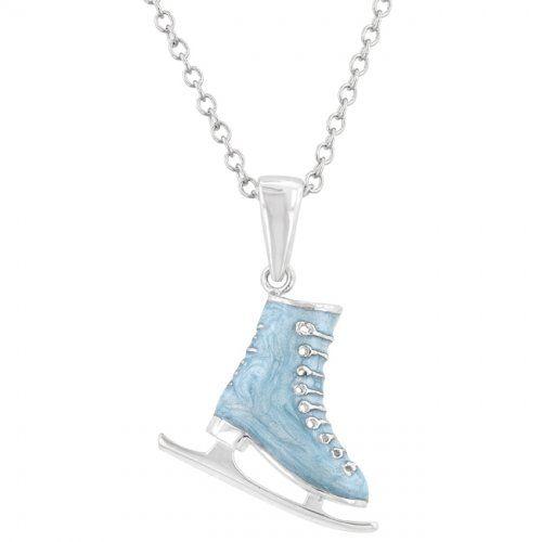 Enamel Ice Skate Pendant   http://atomicfleamarket.com/enamel-skate-pendant-p-17934.html