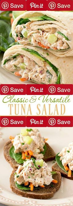 Classic Tuna Salad 5 mins to make serves 3-4 IngredientsGluten freeMeat1 2 oz cans Chicken of the sea solid white albacore in water in ez-open cansProduce2 tbsp Celery1 tsp Flat-leaf parsley2 tbsp Red onionCondiments1 Lemon juice optional Freshly squeezed1/4 cup Mayonnaise1/2 tbsp Mustard or dijon whole-grain1 tsp Sweet pickle relish optionalBaking & Spices1 Salt and pepper