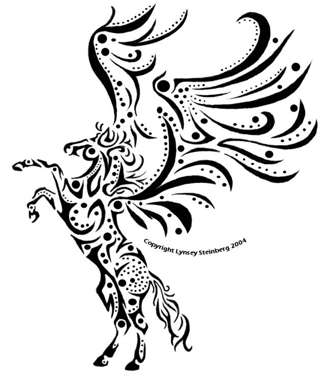 Pegasus drawing by Lynsey Steinberg