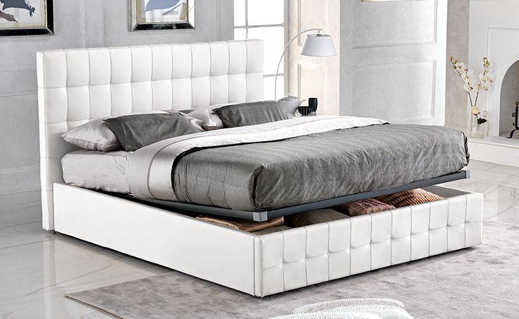 Il letto matrimoniale City 2 bianco dona alla tua stanza un tocco di eleganza.