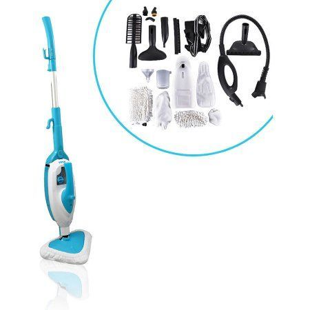 Pyle-Home Multi-Purpose and Multi-Surface Steam Floor Mop and Detachable Handheld Steamer, White