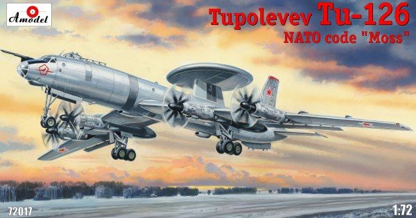 "Tupolev Tu-126 ""Moss"". A Model, 1/72, injection, No.AMU72017. Price: 215,09 GBP."