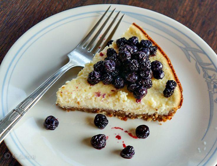 Wild Alaskan blueberries on cheesecake are my favorite dessert