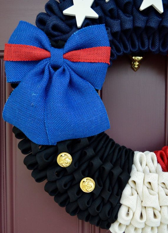 U.S. Marine Corps Blue Dress Wreath by CreativWreathConcept