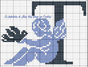 ange - angel - oiseau - point de croix - cross stitch - Blog : http://broderiemimie44.canalblog.com/