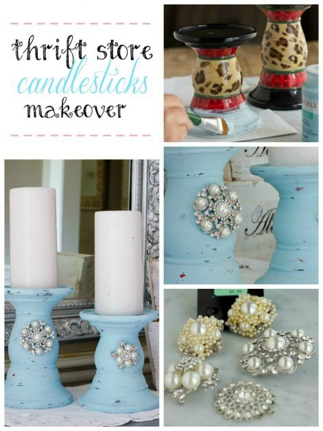 Thrift Store Candlestick Makeover Tutorial