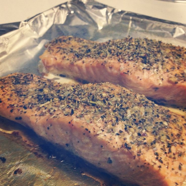 easy oven baked salmon #healthy #recipes
