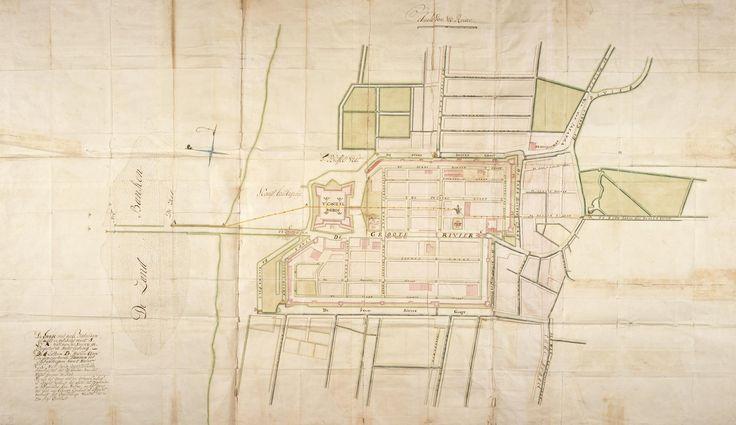 Kaart van de stad Batavia, Behoort by de overgekomen Brieven en papieren van Batavia 1731