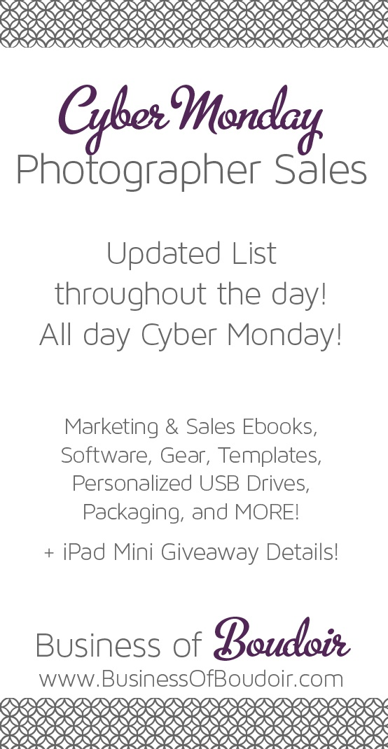 Cyber Monday deals for Photographers!