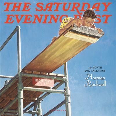 "Saturday Evening Post 12""x12"" wall calendar by Graphique de France. $14.99"